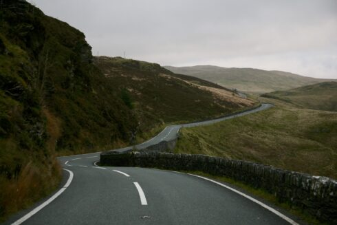 FD0007 Isolated Road Wales 74