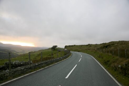 Isolated Road Wales 78